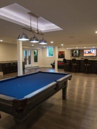 Basement design and basement remodeling